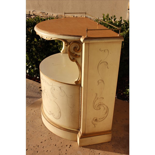 Karges Painted Demilune Nightstand - Pair - Image 7 of 11