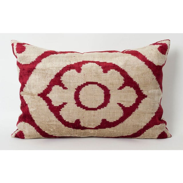 Marsala Silk Velvet Accent Pillow - Image 2 of 2