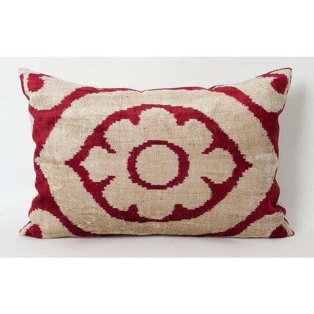 Image of Marsala Silk Velvet Accent Pillow
