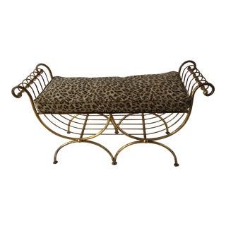 Spanish-Style Gilt Vanity Bench