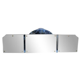 Vanity Mirror with Blue Detail