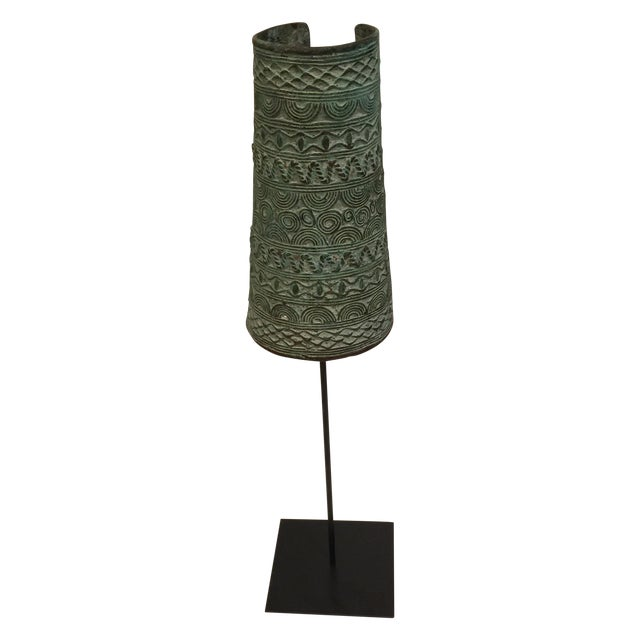 Bronze African Cuff on Stand - Image 1 of 5