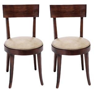 Sarried Ltd Wooden Round Back Chairs - A Pair