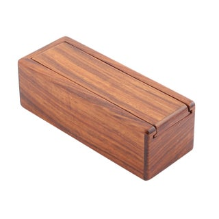 WOODEN BOX WITH SLIDING TOP BY JERRY MADRIGALE, CIRCA 1980S