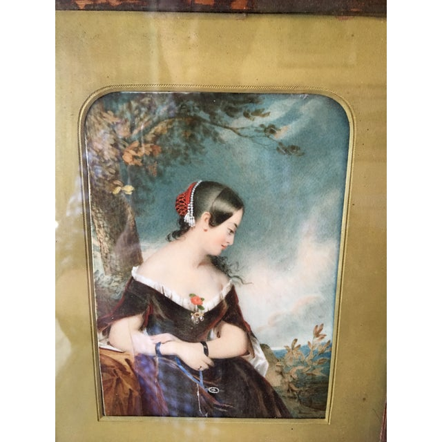 19th Century Oil on Ivory Painting - Image 6 of 7