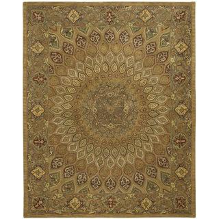 Safavieh Heritage Wool Hand Tufted Light Brown Grey Rug - 7'6 X 9'6