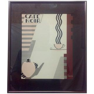 Charles Lepas Art Deco Cafe Noir Serigraph