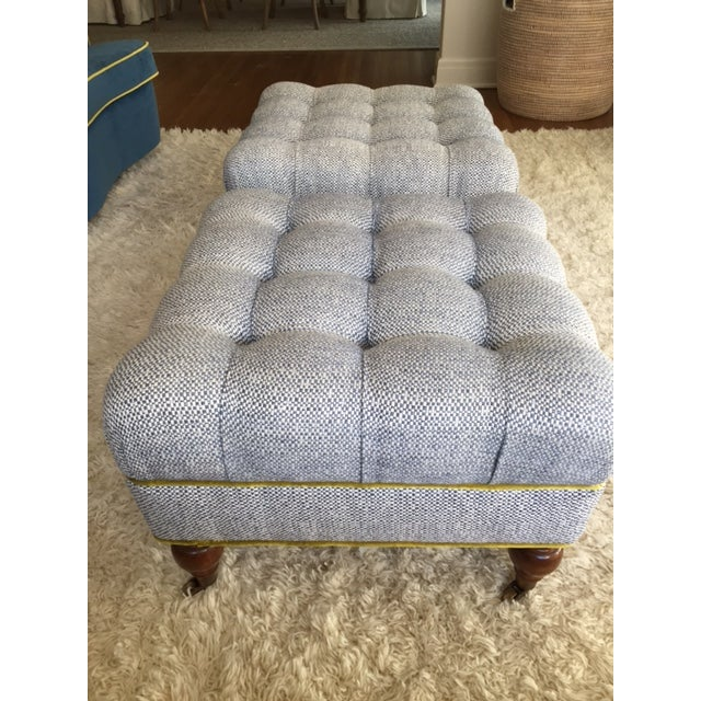 Image of Tufted Ottomans - A Pair