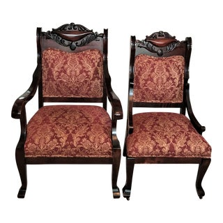 Empire Revival His & Hers Parlor Chairs - A Pair