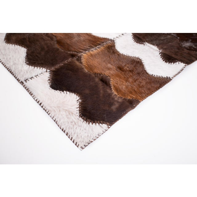 "Cowhide Patchwork Area Rug - 4' x 6'4"" - Image 4 of 8"