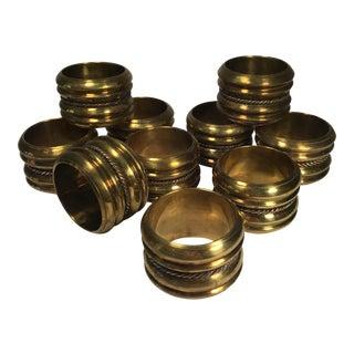 Vintage Brass Napkin Rings - Set of 10