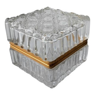 Vintage Cut Crystal French Vanity Box