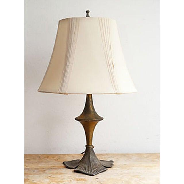 Image of Vintage Art Nouveau Metal Table Lamp