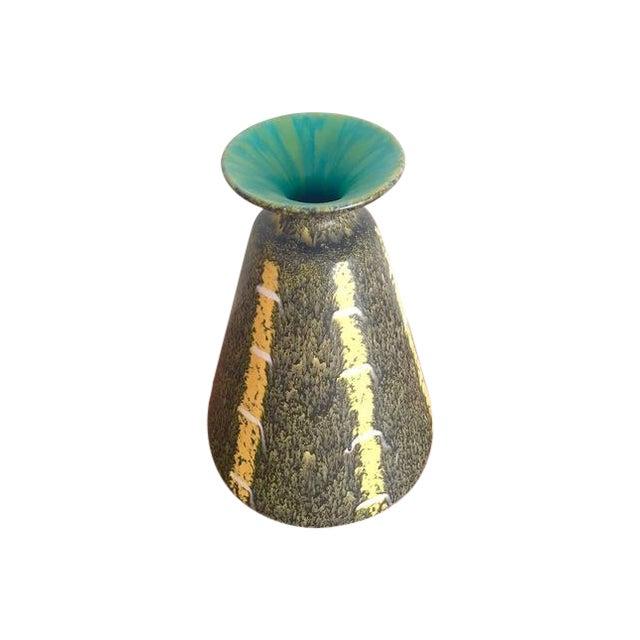 Image of Scheurich Ceramics Yellow Striped Vase