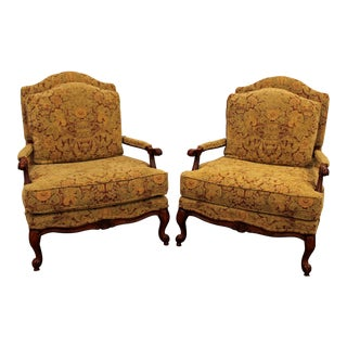 Ethan Allen French Country Lounge Chairs - A Pair