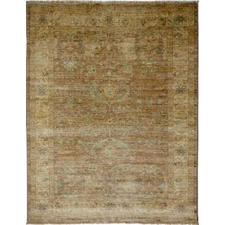 "Turkish Oushak Hand-Knotted Rug - 4'3"" X 5'4"""