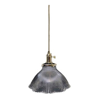 Antique Glass 6.375 In. Holophane Pendant Light