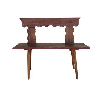 Rustic Antique Oak Cottage Bench