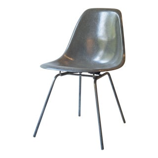 Vintage Eames Fiberglass Elephant Gray Shell Chair