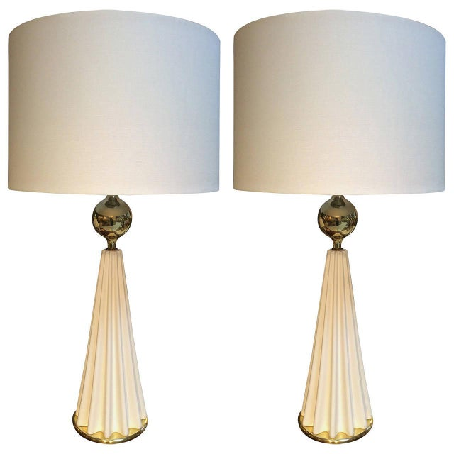 Image of Gerald Thurston Lightolier Table Lamps - A Pair