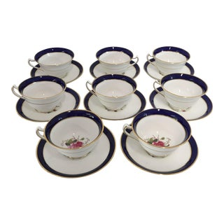 Vintage English China Coffee Service - Set of 8
