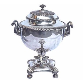 Antique Silver-Plated Coffee Samovar
