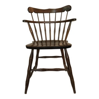 Antique Double Decker Dark Mahogany Spindle Chair