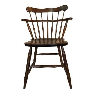 Antique Double Decker Dark Pine Spindle Chair