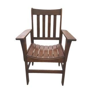 Antique Stickley Roycroft Era Arts & Crafts Mission Oak Accent Parlor Chair