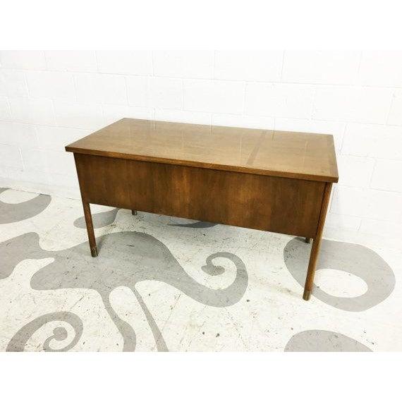 Mid-Century Modern Walnut Four Drawer Desk - Image 4 of 6