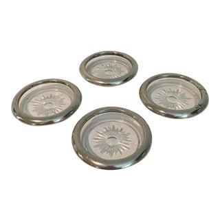 Vintage Leonard Silver Plate Italian Coasters - Set of 4