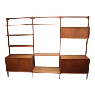 Cado Style Danish Teak Freestanding Wall Unit