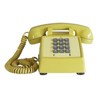 1970s Yellow TouchTone Desk Phone