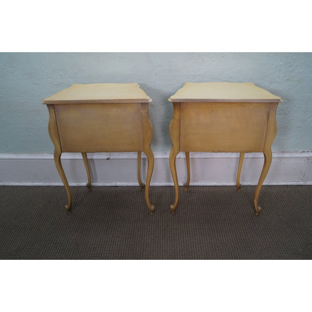 Vintage 1940s Painted Bombe Nightstands - A Pair - Image 4 of 10