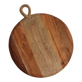IndabaWooden Round Cutting Board