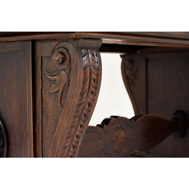 Antique Italian Baroque-style Desk or Library Table - Image 5 of 8