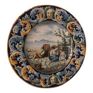 Painted Ceramic Plate