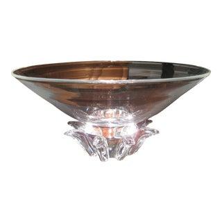 Vintage Steuben Crystal Donald Pollard Peony Bowl