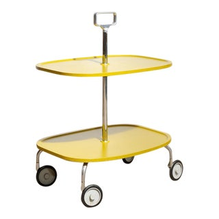 Kartell Italian 2-Tier Trolley Cart