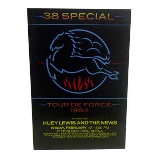 """Vintage 1984 """"38 Special"""" Concert Poster"""
