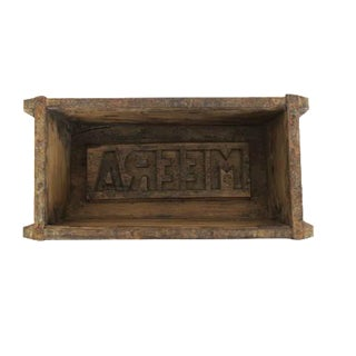 Antique Wood and Metal Industrial Carved Brick Mold