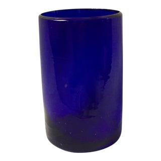 Cobalt Blue Hand Blown Glass Cup