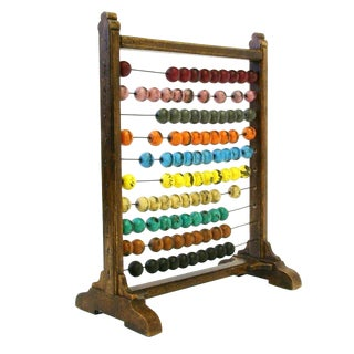 Early American Colorful Primitive Abacus