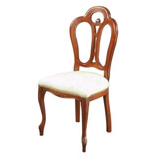 Italian Ivory Damask Dining Chair