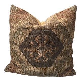 Rustic Turkish Kilim Accent Pillow Cover