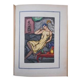 """Vintage Ltd. Ed. Hand Colored Image By Guy Arnoux""""Les Femmes De Ce Temps""""-L'Etrange- The Strange Woman-France-1920"""