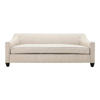 Clad Home Custom Ivory Linen Sofa