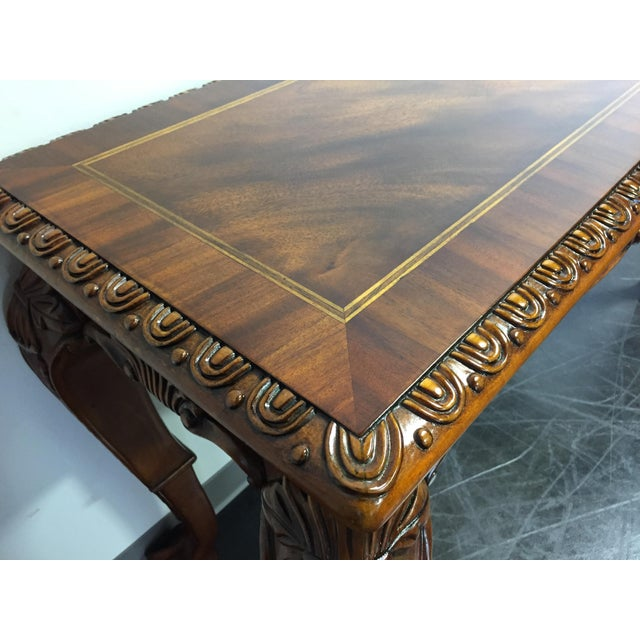 Chippendale Mahogany Inlaid Console Sofa Table - Image 9 of 11