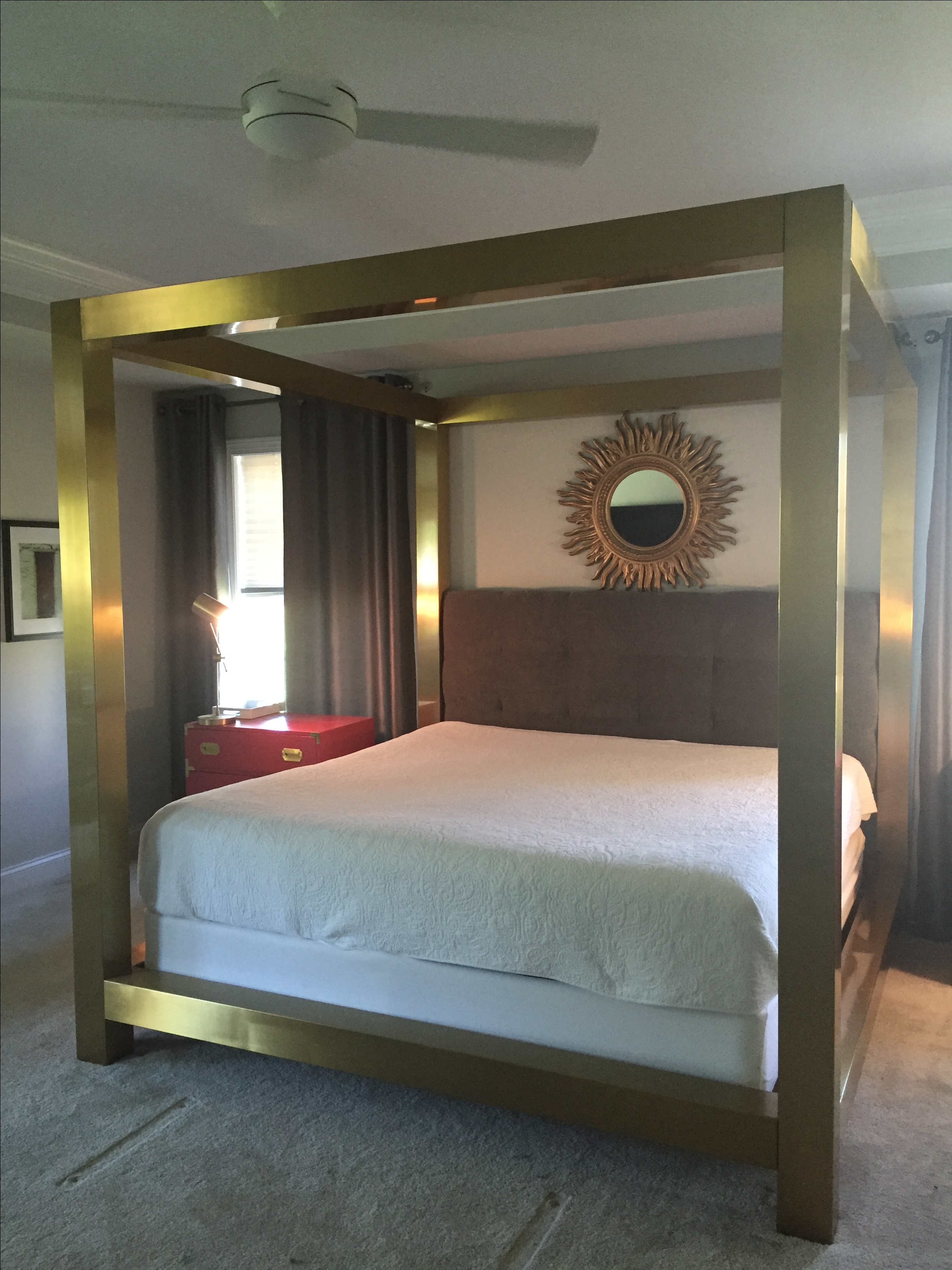 bernhardt kensington metal canopy bed image 2 of 6