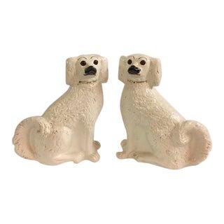 Vintage Staffordshire Dog Figurines - a Pair